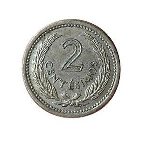 Moeda Antiga do Uruguai 2 Centésimos 1953