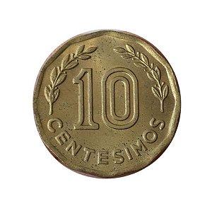 Moeda Antiga do Uruguai 10 Centésimos 1981