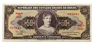 Cédula Antiga do Brasil 5 Centavos de Cruzeiro 1967 - Princesa Isabel