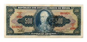 Cédula Antiga do Brasil 50 Centavos de Cruzeiro 1967 - D. João VI