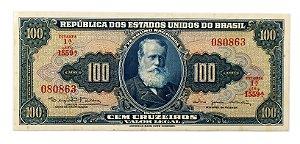 Cédula Antiga do Brasil 100 Cruzeiros 1964 - D. Pedro II