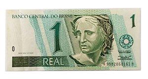 Cédula Antiga do Brasil 1 Real 1999