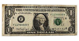 Cédula Antiga dos Estados Unidos $1 1988 A - Washington