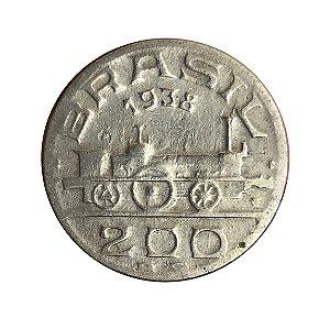 Moeda Antiga do Brasil 200 Réis 1938 -  Visconde de Mauá