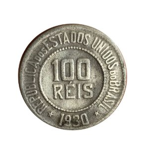 Moeda Antiga do Brasil 100 Réis 1930