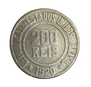 Moeda Antiga do Brasil 200 Réis 1920