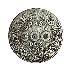 Moeda Antiga do Brasil 300 Réis 1938 - Getúlio Vargas