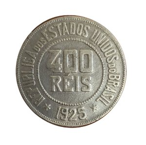 Moeda Antiga do Brasil 400 Réis 1925
