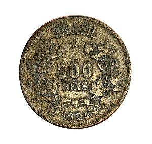 Moeda Antiga do Brasil 500 Réis 1924