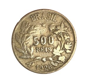 Moeda Antiga do Brasil 500 Réis 1928