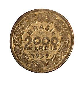 Moeda Antiga do Brasil 2000 Réis 1939 - Floriano Peixoto