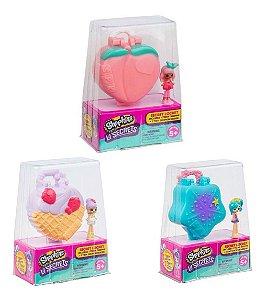 Shopkins Lil Secret Pingente Conjunto 3 Miniaturas - Dtc