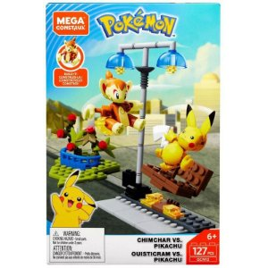 Pokemon Pikachu vs Chimchar- Mega Construx - Mattel GCN12