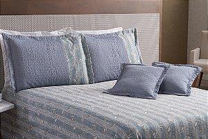 Kit Cobre Leito Casal Queen 7 peças Naturale Azul