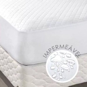 Capa de Colchão Impermeável Matelado Queen Size Branco
