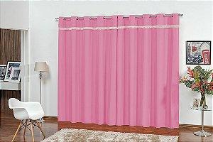 Cortina para Sala e Quarto Vitória 2,00 x 1,80m Pink