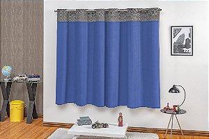 Cortina para Sala e Quarto Limo 2,00 x 1,80m Azul Royal