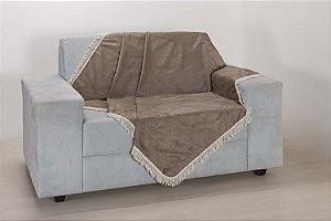 Xale para Sofá Decoração Sala Tecido Suede 1,50 X 1,50 Avelã