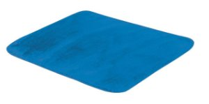 Tapete De Portas Para Sala Liso Pelúcia 0,70 X 0,50 Azul Turquesa