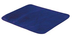 Tapete De Portas Para Sala Liso Pelúcia 0,70 X 0,50 Azul Royal