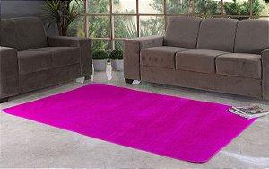 Tapete Para Sala e Quarto Pelúcia Liso Safari 2,00 X 1,40 Pink