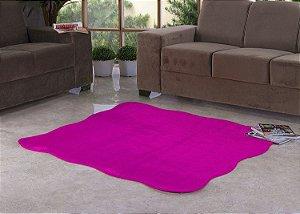 Tapete Para Sala e Quarto Pelúcia Liso Ondulado Pink