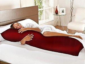 Travesseiro De Corpo Com Fronha Cetim Charrmousse Vermelha