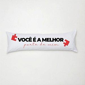 Travesseiro Mini Xuxão 90cm x 38cm com Fronha Estampada Melhor Parte de Mim