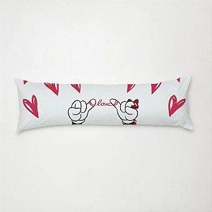 Travesseiro Mini Xuxão 90cm x 38cm com Fronha Estampada Love