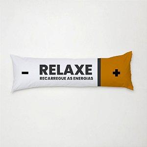 Travesseiro de Corpo Gigante com Fronha Estampada Relaxe