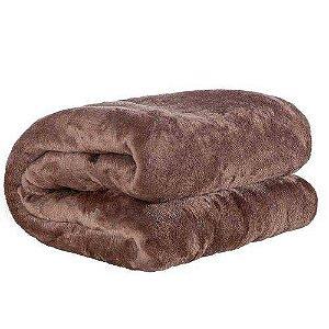 Cobertor Casal Manta Felpuda 01 Peça (toque Aveludado) Tabaco