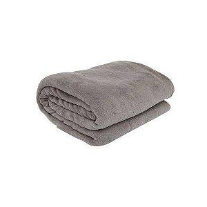 Cobertor Casal Manta Felpuda 01 Peça (toque Aveludado) Cinza