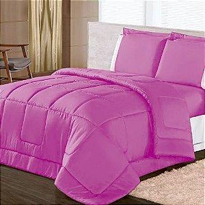 Edredom Casal Queen Paris Soft Dupla Face Pink