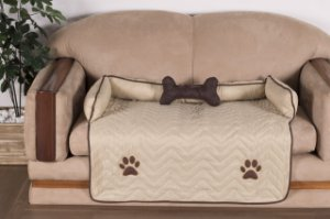 Protetor Pet Para Sofá Caminha De Cachorro + Ossinho Grande Caqui