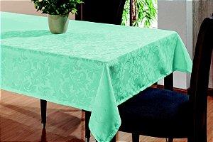 Toalha De Mesa Sala Jantar 3,20x1,45 em Tecido Jacquard Azul