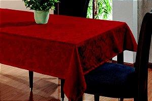 Toalha De Mesa Sala Jantar 1,45x1,45 em Tecido Jacquard Vermelho