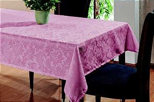 Toalha De Mesa Sala Jantar 1,45x1,45 em Tecido Jacquard Rosê