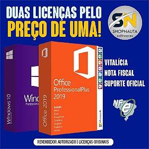 Pack Windows 10 Pro e Office Plus 2019 com NF-e