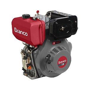 Motor A Diesel Branco Bd-7.0 7cv Eixo H Partida Manual