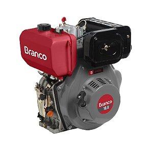 Motor A Diesel Branco Bd-10.0 Eixo H 10cv Partida Manual