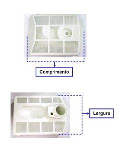 Peça Elemento Filtro Ar Bmt-52 14001950 P/ Motosserra Branco