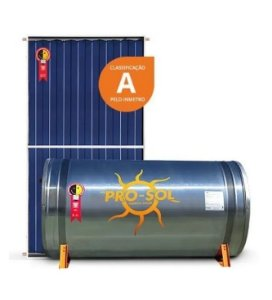 Kit Aquecedor Solar Pro-Sol Boiler 600l Baixa Pressão + 4 Coletor Placa 1,95m2