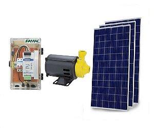 Kit Solar Bomba Centrifuga de Água Famac Fsp80-1 750w + 3 Placas