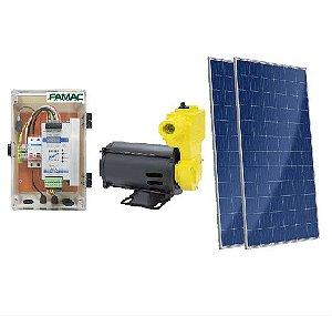 Kit Solar Bomba d'água Autoaspirante Famac Fasp80-1 750w + 3 Placas