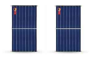 Coletor Solar Pro-Sol 1,97 X 1 Horizontal Kit 2 Placa P/ Aquecimento De Água