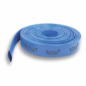 Mangueira Buffalo Pvc Azul 6,0 Polegadas 6 Bar 86 Psi Com 50 Metros Para Irrigação