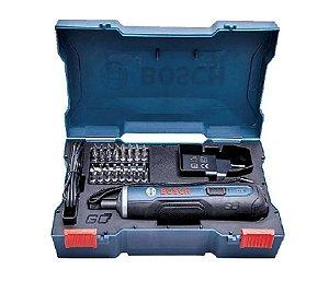 Parafusadeira a Bateria de Lítio 3,6V com Carregador USB + Jogo de 33 Bits Bosch