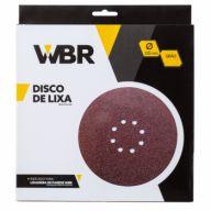Disco de Lixa 225mm Grão 80 Com 10pç Wbr Wagner Para Lixadeira