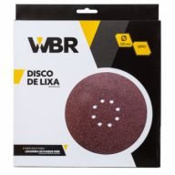Disco de Lixa 225mm Grão 150 Com 10pç Wbr Wagner Para Lixadeira