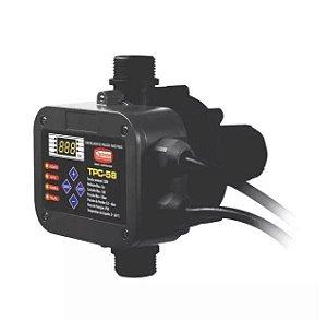 Controlador de Pressão Eletrônico TPC-58 Thebe 220V p/ Bomba de Água 1/4-1,5cv